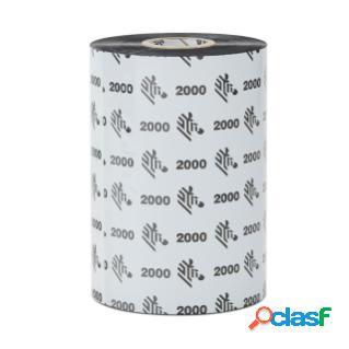 Cinta zebra con cera wax 2000, 3.5'' x 89mm
