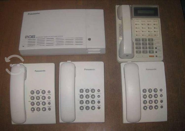 Conmutador panasonic kx-t206hbx 4 con telefonos