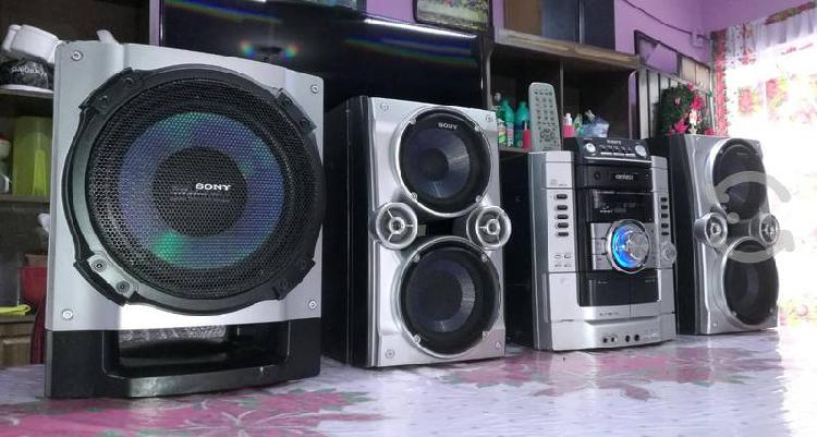 Potente sony genezi hi-fi con auxiliar