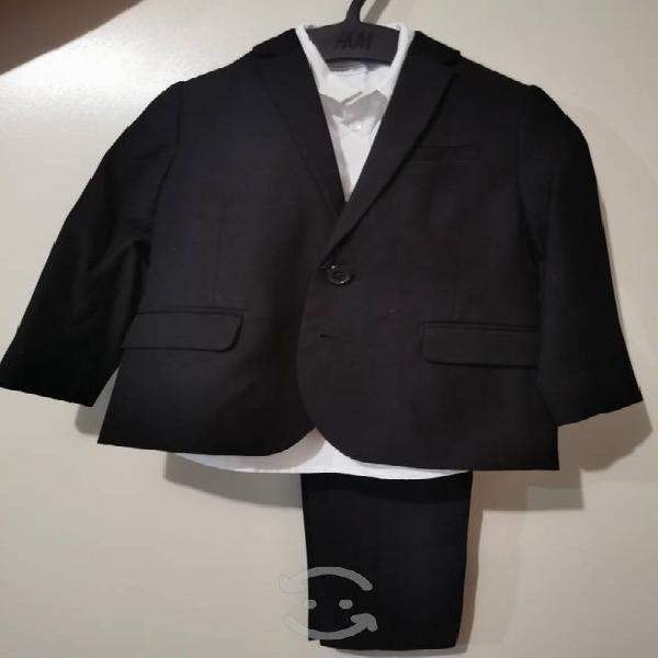 Traje vestir negro h&m 3-4 años