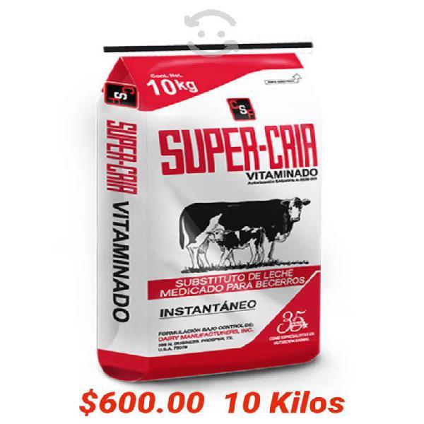 Leche para becerro vitaminado 10 kilos