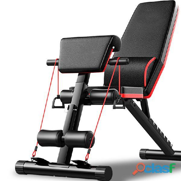 Banco Gym Multiposiciones Plegable Biceps Y Bandas 1