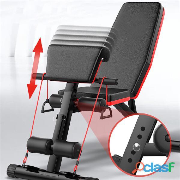 Banco Gym Multiposiciones Plegable Biceps Y Bandas 2