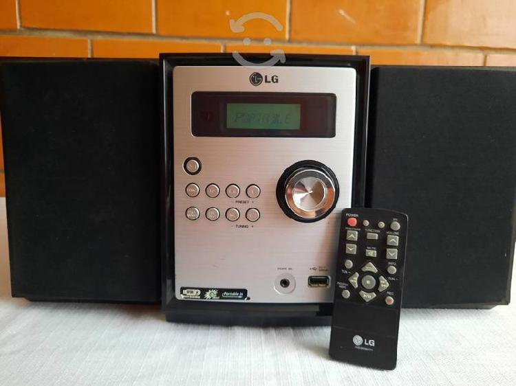 Mini componente lg mp3, usb, radio