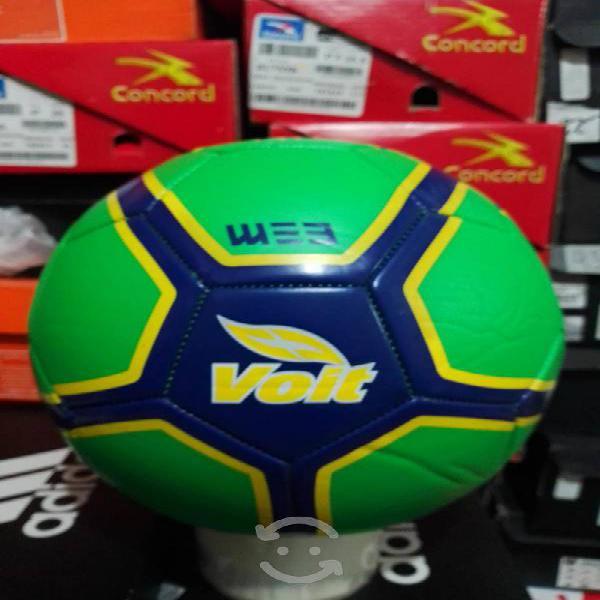 Balón de fútbol voit no.5 verde nuevo original