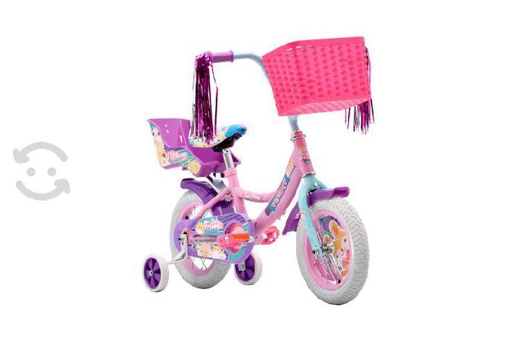 Bicicleta infantil veloci tutti bunny rodada 12
