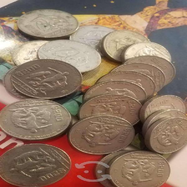 Moneda mundial de fútbol méxico 86
