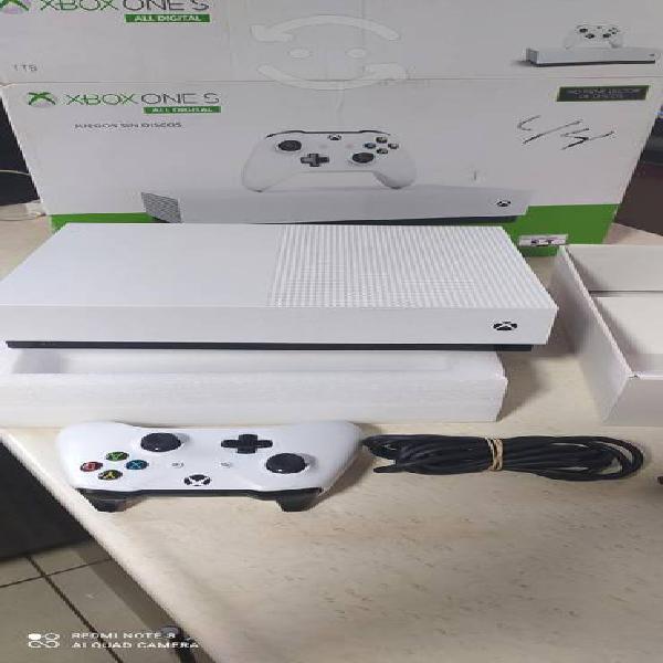 Xbox one s digital 1tera como nuevo aun con juegos