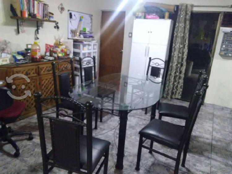 Comedor mesa vidrio 10 mm con 6 sillas