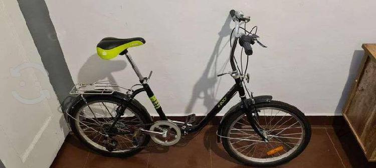 Bicicleta plegable 22, negra, 7 cambios