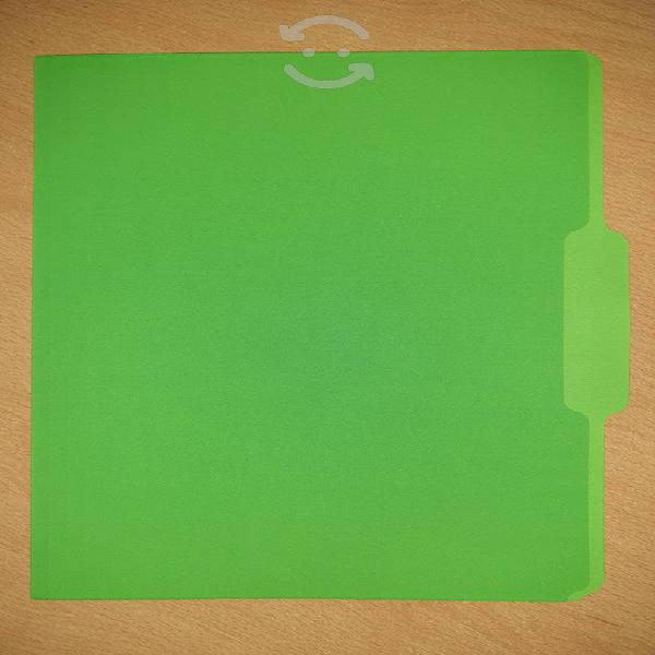 Folder tamaño carta ceja media/inferior radiantes
