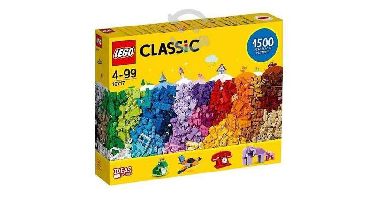 Lego classic ladrillos 1500 piezas set 10717