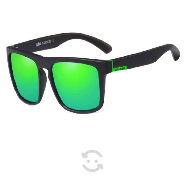 Gafas sol verdes negro polarisado uv400 deporte pa