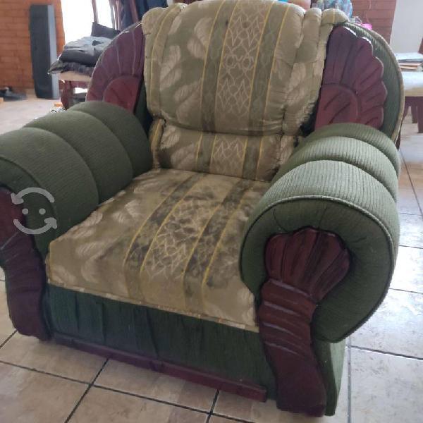 Sala sillón individual y loveseat usados