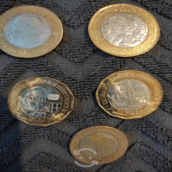 Colección de monedas conmemorativas mexicanas
