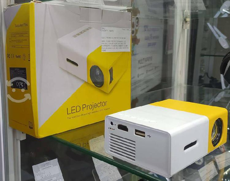 Mini proyector portátil led para rca hdmi usb y mi