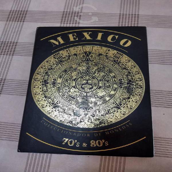 Hermoso coleccionador monedas de méxico 70's y 80'