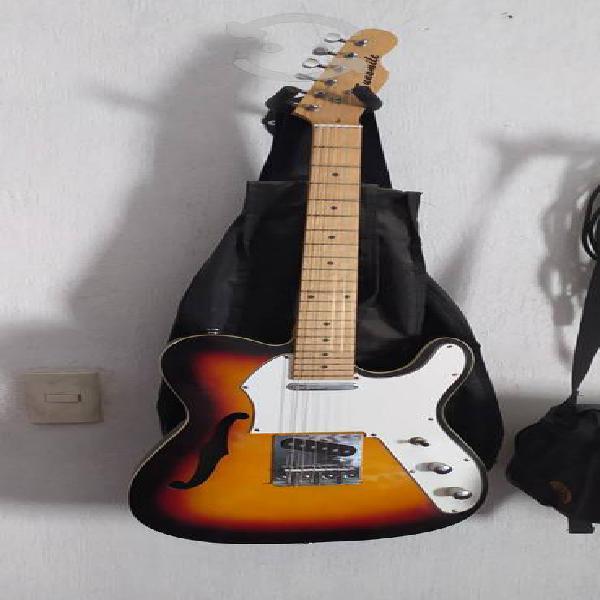 guitarra Telecaster thinline sunsmile