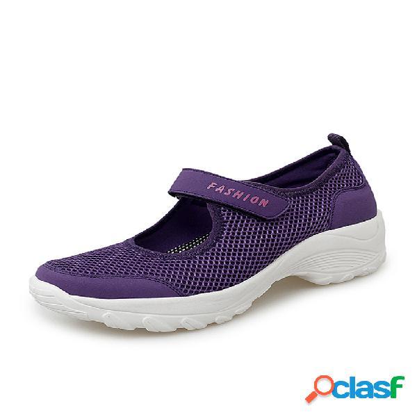Mujer plataforma deportiva de malla transpirable de gran tamaño al aire libre zapatillas deportivas