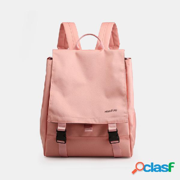 Mujer impermeable mochila sólida de gran capacidad
