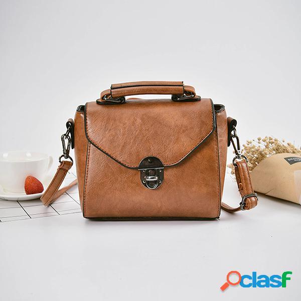 Mujer crossbody de cuero retro estilo pu bolsa messenger bolsa