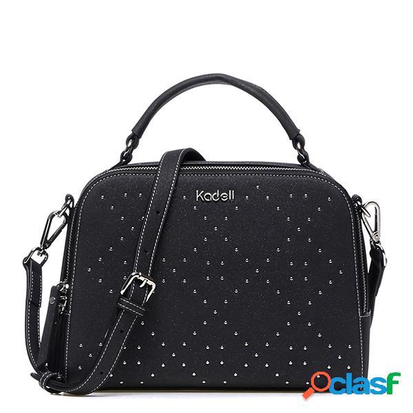 Kadell mensajero de cuero de gamuza para mujer bolsa elegante bolso de diamante diseño