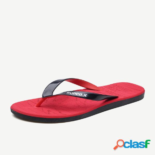 Zapatillas temporada de hombres nuevo soft parte inferior al aire libre moda antideslizante ropa de moda personalidad playa chanclas de pellizco