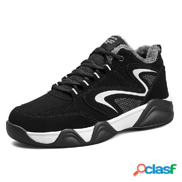 Zapatillas deportivas cálidas para hombre al aire libre zapatillas deportivas