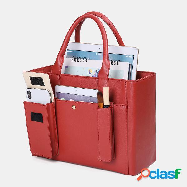 Mujer set de tres piezas bolso de negocios portátil de gran capacidad de pu