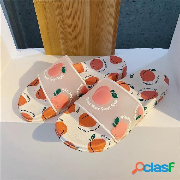 Mujer fruta diseño decoración pisos zapatillas