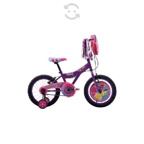 Bicicleta veloci soñadoras rodada 16 violeta