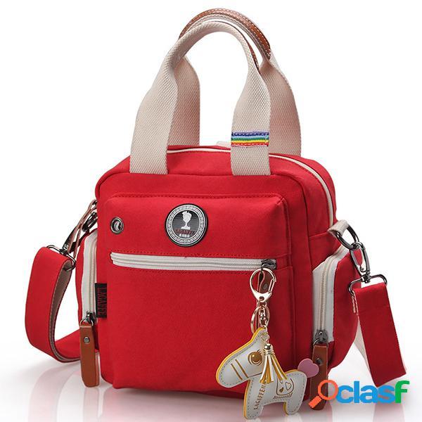 Lona multifuncional casual mamá bolsa bolso hombro bolsa crossbody bolsa mochila