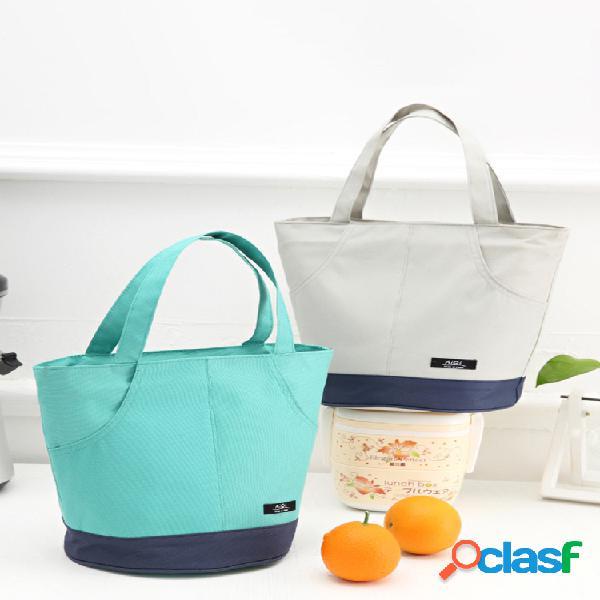 Almuerzo de gran capacidad Bolsa Almuerzo de picnic Bolsa Contenedor de alimentos Refrigerador aislado Bolsa Hielo Bolsa