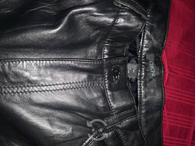 Pantalón de piel dkny