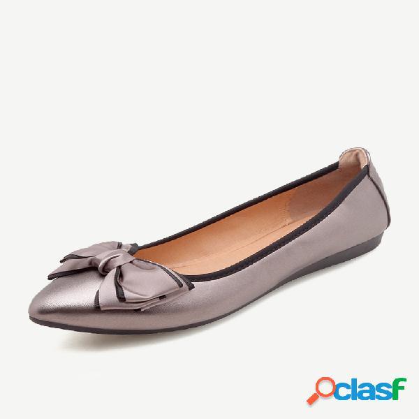 Mujer soft zapatos planos de boca baja y baja