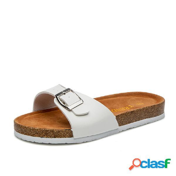 Mujer casual playa plataforma con punta abierta zapatillas