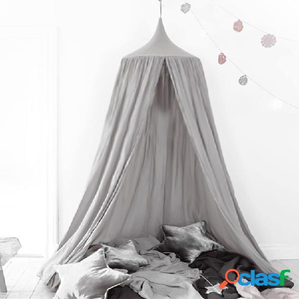 Red de cama con dosel de 240 cm, mosquitera, ropa de cama para bebés y niños, tiendas de campaña, ropa de algodón