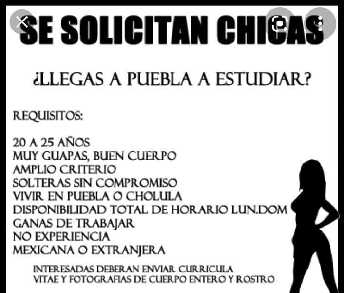 BUSCO CHICA COMO ACOMPAÑANTE. TRIOS PUEBLA (CENTRO PUEBLA)