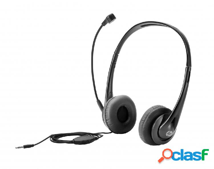 Hp audífonos con micrófono, alámbrico, 3.5mm, negro