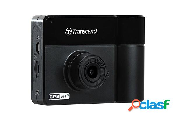 Transcend cámara de video para automovil drivepro 550, full hd, microsd 64gb, negro
