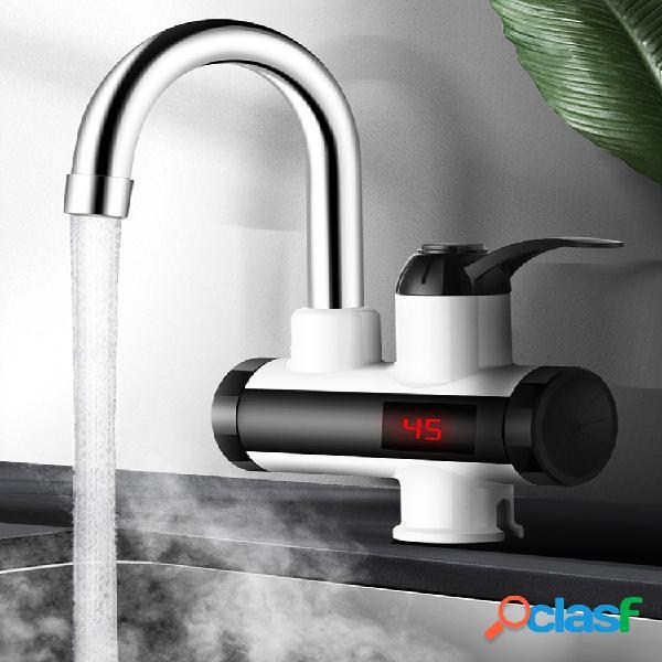 Agua de cocina eléctrica de 3000 w calentador grifo de agua caliente instantánea calentador grifo de calefacción fría agua instantánea sin tanque calentador