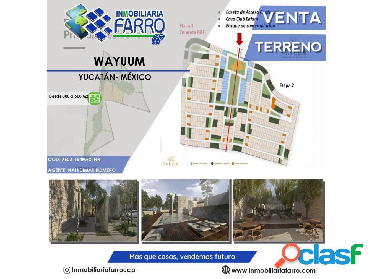 Lotes residenciales wayuum en yucatán méxico ve02-154mx-nr