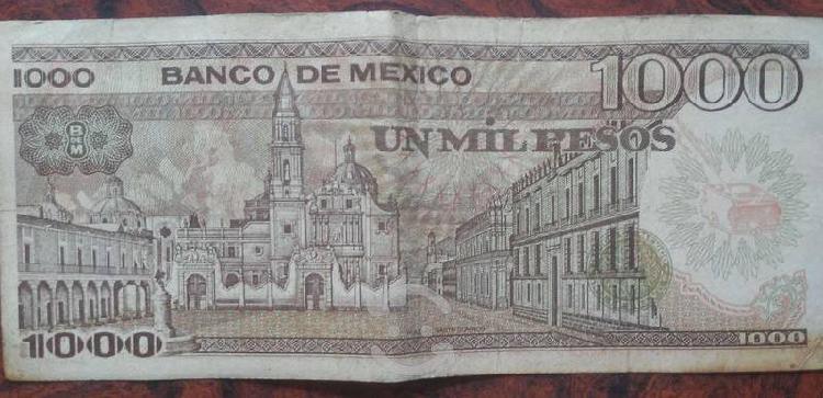 Billetes antiguos de sor juana y francisco i.