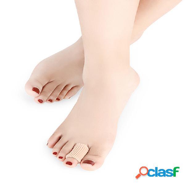 Tubos de gel para los dedos del pie manga del dedo del pie protectores del dedo del pie soft tela juanete hammer callo del dedo del pie blister
