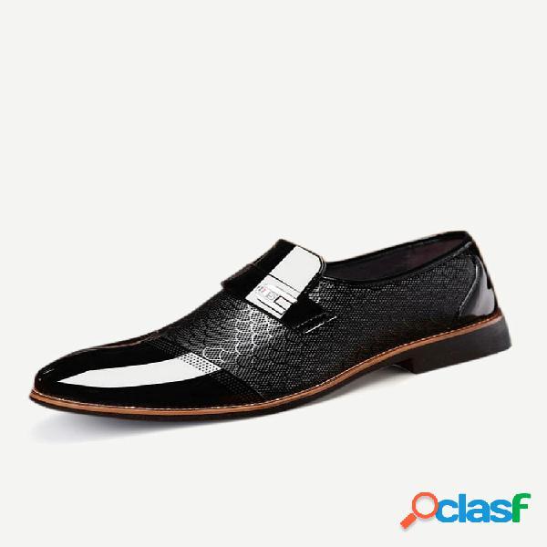 Zapatos formales vestido con punta de casquillo elegante para hombres de gran tamaño