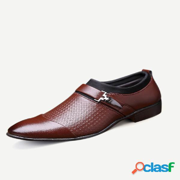 Zapatos de hombre de gran tamaño con punta de casquillo elegante en zapatos formales vestido