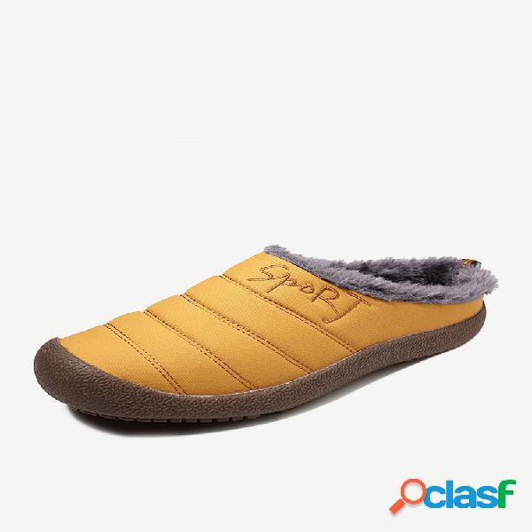 Tamaño grande cómodo impermeable casual invierno sin espalda botas