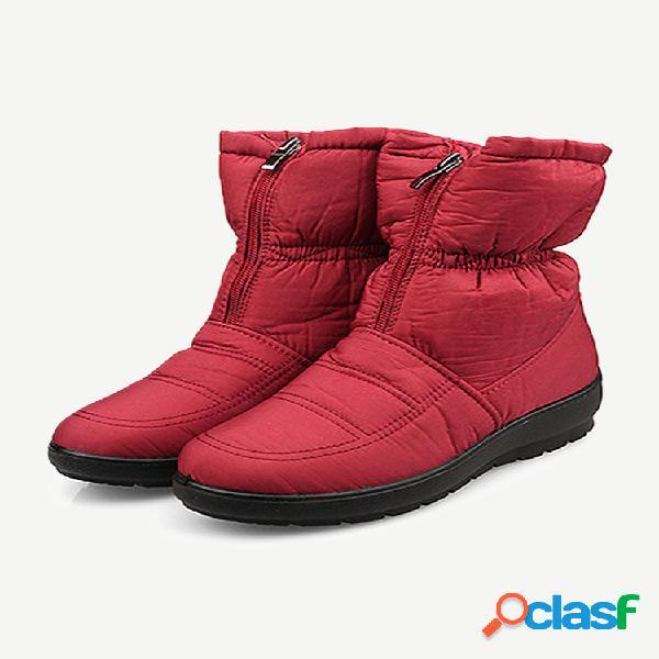 Tamaño grande ajustable impermeable deslizamiento plano con cremallera en el tobillo botas