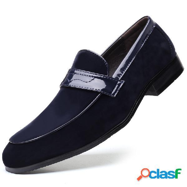 Hombres suede penny mocasines cómodo slip on vestido zapatos formales