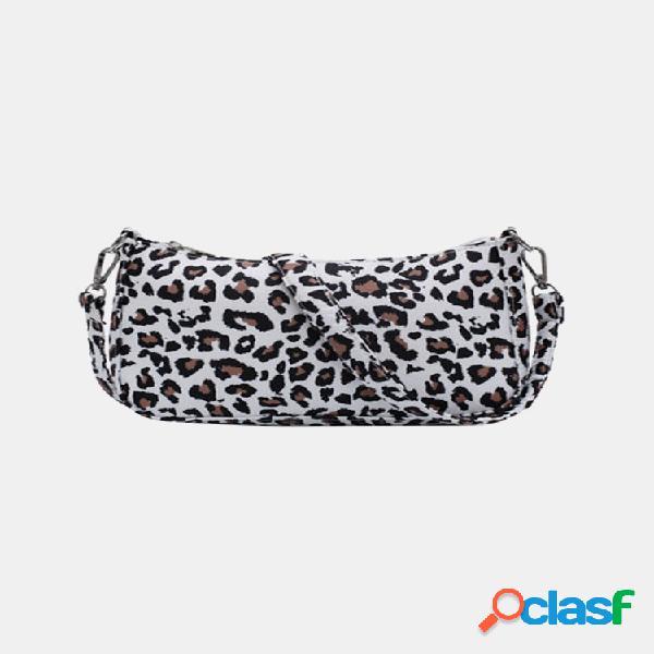 Mujer nylon bolso de leopardo a cuadros bolsa bolso